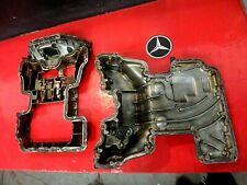01-05 MERCEDES BENZ C240 W203 ENGINE MOTOR UPPER LOWER OIL PAN SUMP COVER SET