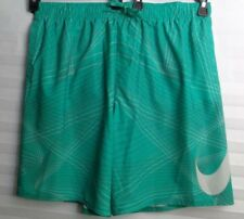 NIKE Brand Swim Shorts Green And Mesh Lined Men's Size XXL (u)