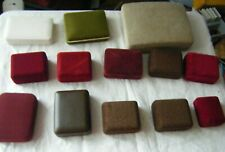 Lot of 13 Vintage Jewellery boxes, assorted