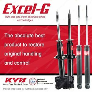 Front + Rear KYB EXCEL-G Shock Absorbers for NISSAN Micra K11 CG13DE 1.3 I4 FWD