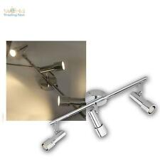 "Plafonnier LED / Applique murale / SPOT 3X 2W G9 Blanc chaud, CHROME "" 2W"