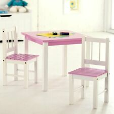 Lipper Kids Small Pink and Table and Chair Set, White, 1