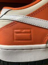 Nike Dunk SB Low Orange Box Orange White Sz 10 Off White Yeezy Foams Jordan