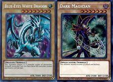 Dark Magician + Blue-eyes White Dragon Set CT14-EN001-EN002 Secret Limited Mint