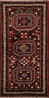 Tribal Geometric Balouch Afghan Oriental Wool Area Rug Hand-Knotted Carpet 3x6