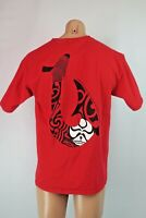 Vtg 90s HAWAIIAN ISLAND CREATIONS T SHIRT HIC SURFER Surf Red Logo T-Shirt L