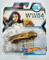 2020 HOT WHEELS DC COMICS Character Car Wonder Woman WW84 Golden Armor Diecast