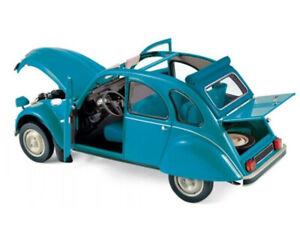 Citroen 2CV 6 Club 1982 Lagune Blue   1/18 NOREV 181492