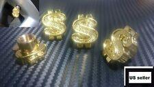 4x Universal Gold US Dollar Sign Valve Stems Cap Set Tire Wheel Dust Dollar Cash