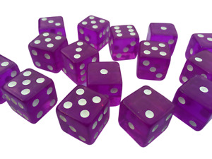 10 x LARGE CASINO STYLE Six Sided PINK Dice 19mm Craps - FREE SHIPPING