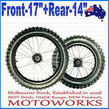 "70/100 - 17"" + 90/100 - 14"" Inch Front Rear Back bigfoot PIT PRO Trail Dirt Bike"
