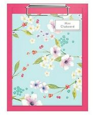 A5 Shopping List Notepad CLIPBOARD Book FLORAL hard back Vintage home