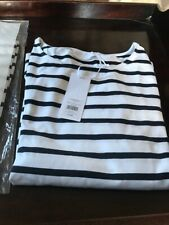 The White Company Pack Of 2 Navy and White Long sleeve Breton top Size 10 - New