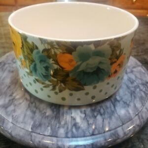 The Pioneer Woman Rose Shadow Pattern Ceramic Large Bowl Container No Lid