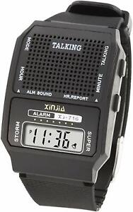 HUMAN VOICE clear English Spanish Russian TALKING ALARM WATCH for Blind Elderly
