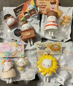POP MART BOBO AND COCO LITTLE STORE SET: BAKERY, GALLERY, FLORIST,  RECORD STORE