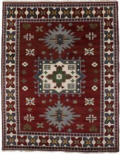 Geometric Tribal Style Kazak 6X9 Vintage Style Handmade Oriental Area Rug Carpet
