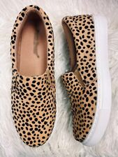 NEW CHEETAH CANVAS FLAT LOAFER SHOES SIZE 5, 6, 7, 8, 9, 10