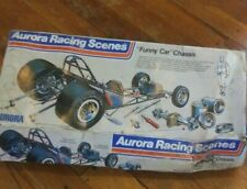 Vintage Aurora Racing Scenes Funny Car Chassis 1973 New in Box