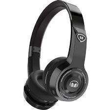 Monster Elements On-the-Ear Bluetooth Wireless DJ Headphones, Black Platinum