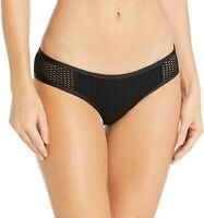 Red Carter Women's 236558 Sun Dance Bikini Bottom Black Swimwear Size L