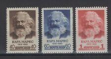 Russia 1958. 140th anniv. of the birth of Marx. Scott # 2056-2058. MNH, VF