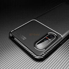 For Sony Xperia 5 1 10 II Case Slim Carbon Fiber Shockproof Flexible TPU Cover