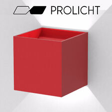 Prolicht G9 Dice wall mounted direct/indirect fixture, Red