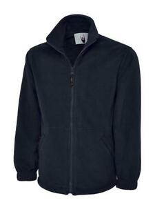 Uneek Classic Full Zip Micro Fleece Jacket Casual Work Wear Extra Warm Mens