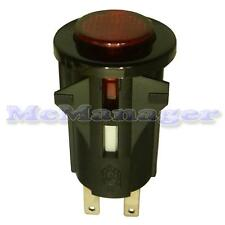 SPST Momentary Push Button Switch Red Light off-(On)