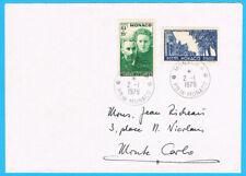 MONAKO 187/8 ° auf Brief = MONACO Scott #B24/5 on cover = Yvert 167/8 sur lettre
