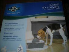 PetSafe Drinkwell Ceramic Seascape Fountain 70 oz Gray Pets Cats Small-Med Dogs