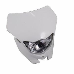 White Head Light Headlight For Kawasaki Suzuki Yamaha  Dirt Bike Off-Road KDX