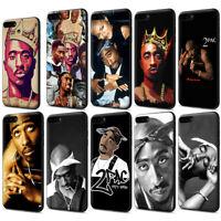 2Pac Tupac Shakur RAP Black Soft TPU Case for iPhone XS Max X 8 7 6 6S Plus
