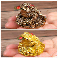Chinese Feng Shui Lucky Three Legged Money Toad Fortune Frog Craft Home Decor