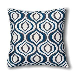 Decorative Handmade Wool Geometric Pattern 50x50 Cm Grey Cushion Cover