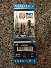 2018 BIG TEN TOURNAMENT TICKET STUB SESSION 4 BASKETBALL MICHIGAN MSU WISC