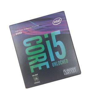 Intel Core i5-8600K LGA 1151 6 Core 3.6ghz 8th Gen