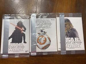 Star Wars The Force Awakens Stickers (3) 2015 General Mills Glow In The Dark