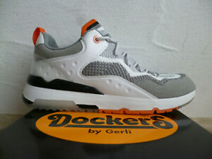 Dockers Homme Chaussures à Lacets Basses Baskets Chaussures de Sport Gris Neuf