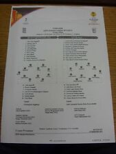 15/09/2011 Colour Teamsheet: Birmingham City v Braga [Europa League] (creased).