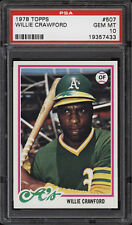 1978 Topps #507 Willie Crawford - A's - PSA 10 - 19357433