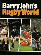 BARRY JOHN'S RUGBY WORLD 1982 BOOK WALES AND WELSH RUGBY FIVE NATIONS ETC