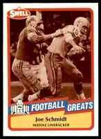 1989 Hall of Fame RED #89 Joe Schmidt HOF RARE Detroit Lions / Pitt Panthers