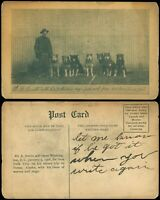 1908c, 2 Dusty Picture Postcards Wolves & Dog Sled Picture, Eli A Smith, Nome AK