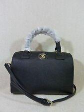 NWT Tory Burch Classic Black Saffiano Leather Robinson Middy Satchel $575
