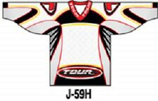 Tour sublimated Ice/ Roller Hockey Jersey youth large J59Hyl