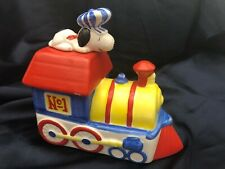 Vintage Peanuts Snoopy Train Willitts Music Box Very Nice