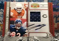 1/1 EB! CEDRIC BENSON (R.I.P) AUTO WITH GAME USED RELIC #d 25/25! LONGHORNS!