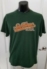 Sublime LBC Baseball Style Logo Dark Green T Shirt Adult Size Large Rare